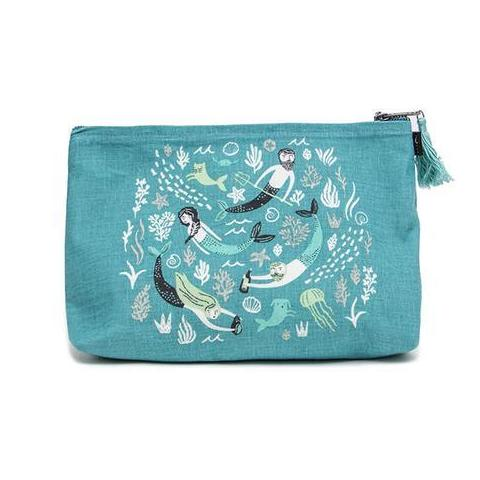 Danica Studio Sea Spell Linen Cosmetic Bag Large