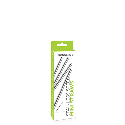 Mini Stainless Steel Straws 4-pk