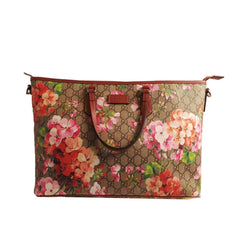 7ad2843b0d21 Gucci Women's Pink GG Supreme Blooms Tote - Image Candy ...