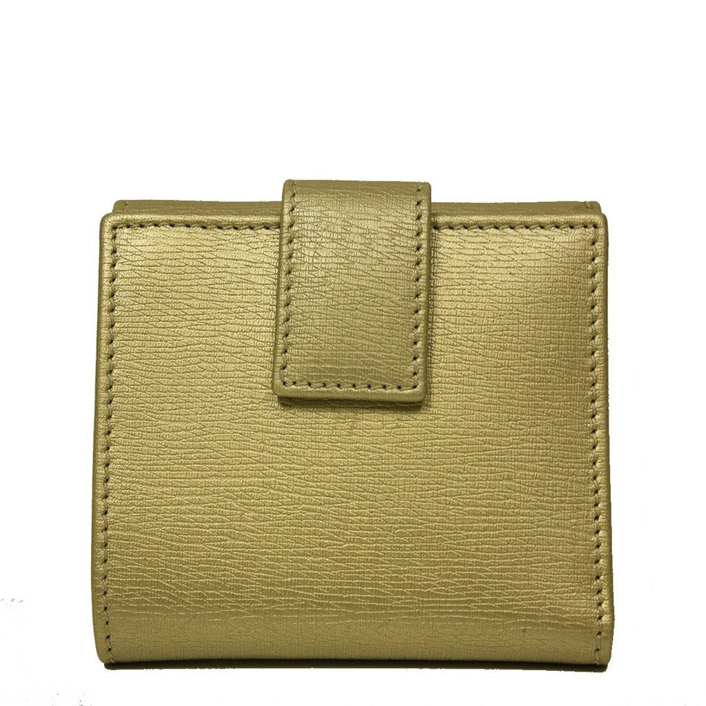 4dca00a4243 ... Gucci Gold Metallic Leather French Flap Wallet - Image Candy ...