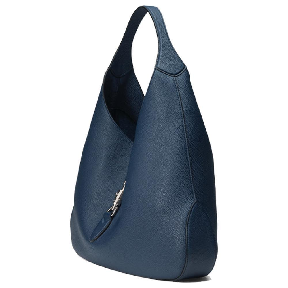 ... Gucci Navy Blue Jackie Soft Leather Hobo Bag - Image Candy ... be659d81f4