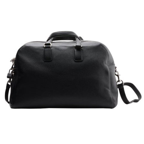 Gucci Men's Black Leather Duffel Travel Bag 322055