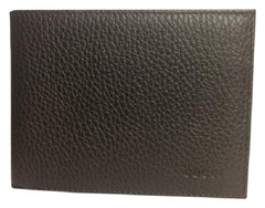 10fa8575e93cff Gucci Men's Chocolate Leather Embossed Logo Tri-fold Wallet - Image Candy  ...