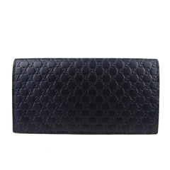 022256b5c91 Gucci Men s Navy Blue Microguccissima Tall Leather Bi-fold Wallet - Image  Candy ...