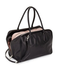 5c4e4c92b3e9 Prada Inside Bag Women's Black and Pink Mughetto Bag - Image Candy ...