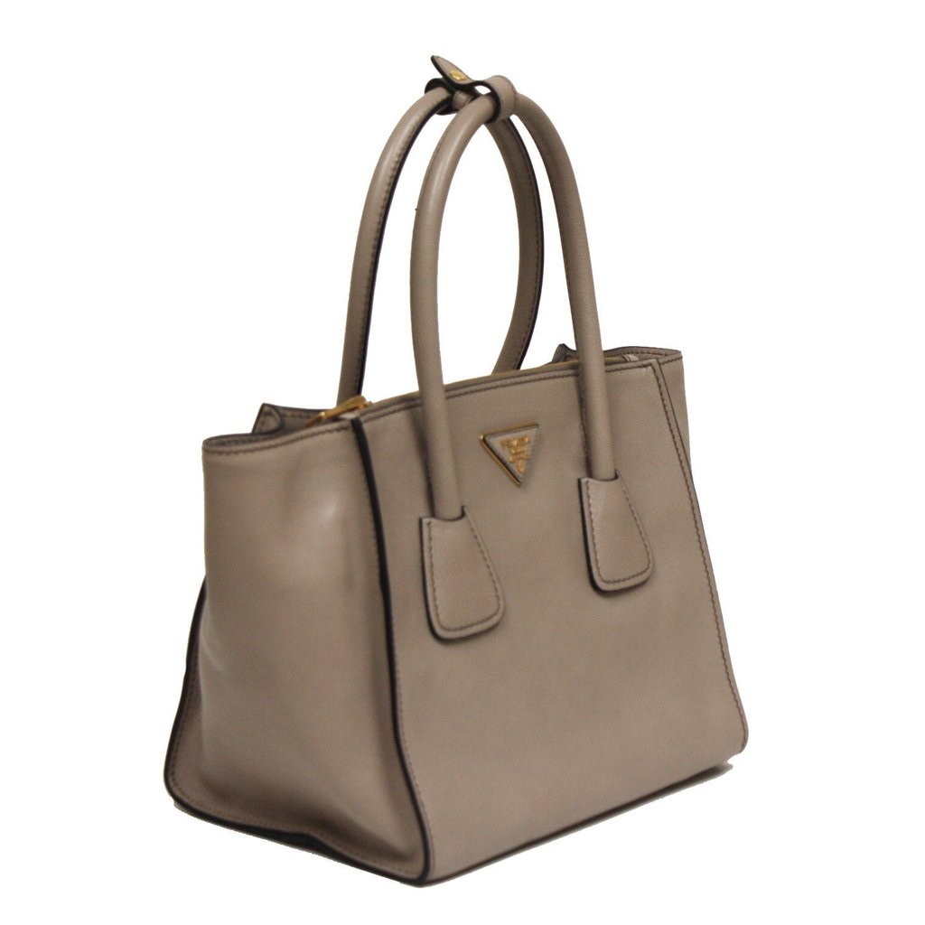 8c3deb5d6867 ... new style prada grey leather shopping tote with shoulder strap image  candy 3db76 60d43