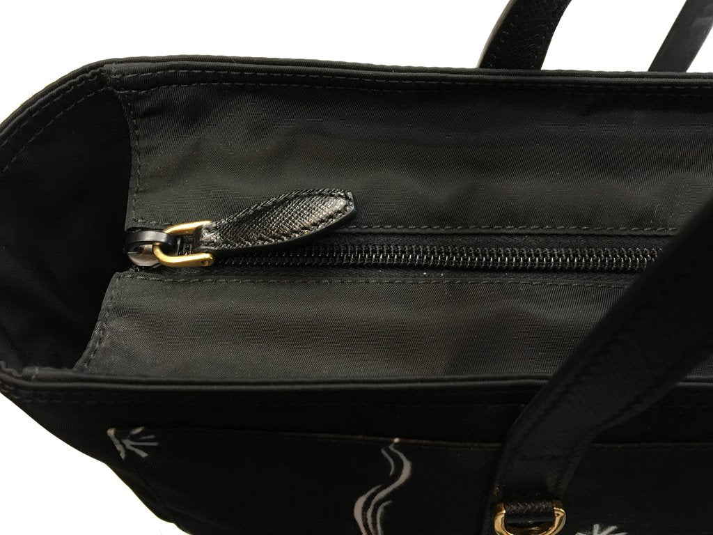 e5b26efee382 ... Prada Women s Black Runway Nylon Collage Tote Bag - Image Candy