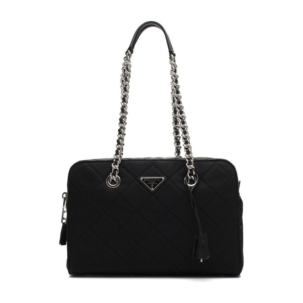 0015edbc4277f3 usa prada womens black tessuto nylon shoulder bag image candy 5d9f3 1dddc