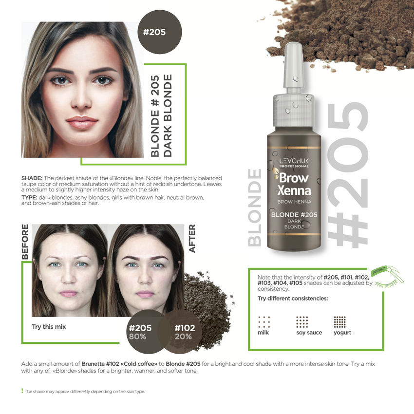 BrowXenna® #205: Dark Taupe (Vial)