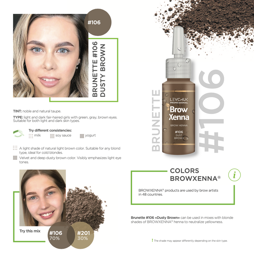 BrowXenna® #106 Dust Brown (Sachet)