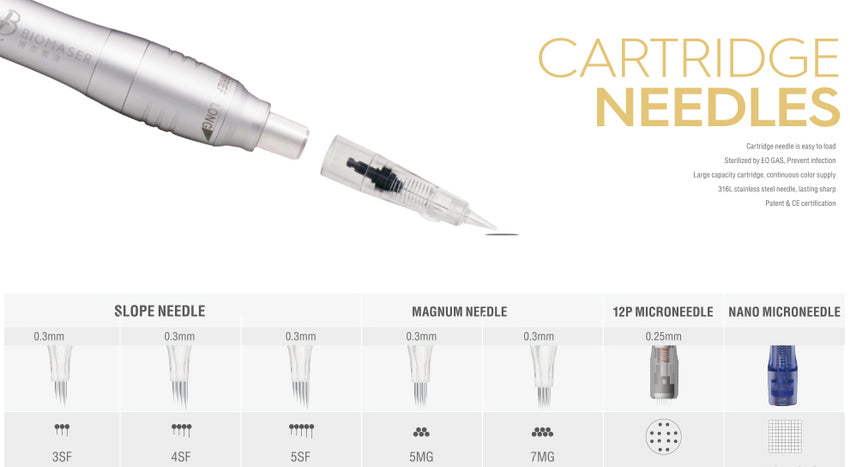 24K Micropigmentation Needle Cartridges