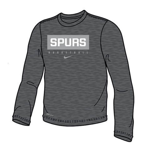 Grey Dri-Fit Legend Longsleeve Tee