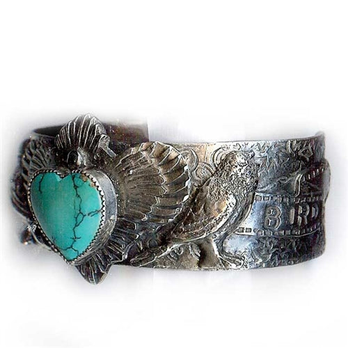 Love Bird Stamped Cuff