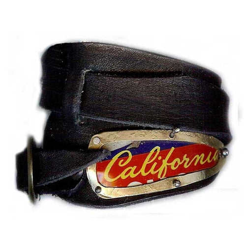"""California"" Asymmetrical Leather Wrap Bracelet"