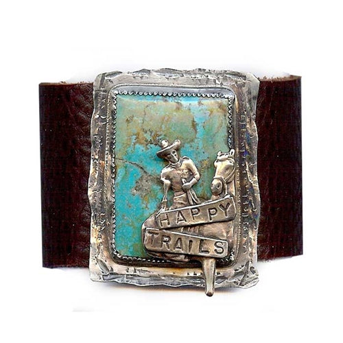 Happy Trails Leather Cuff Bracelet