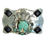 Unbreakable Spirit Turquoise Horse Belt Buckle