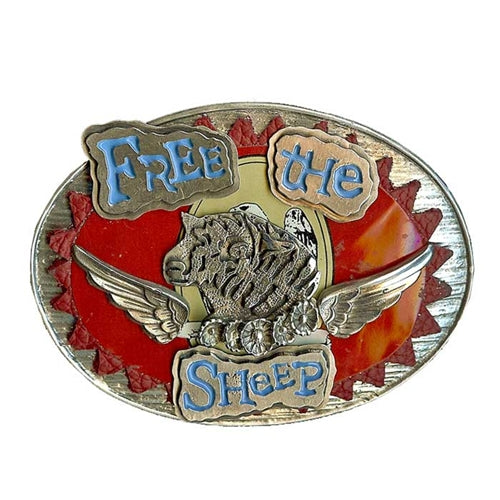 Free the Sheep Belt Buckle