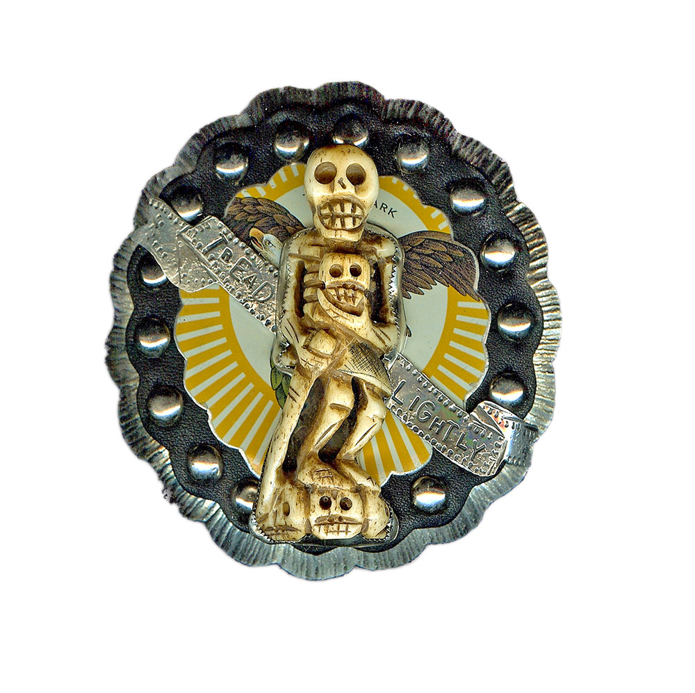 Tread Lightly Skeleton Belt Buckle