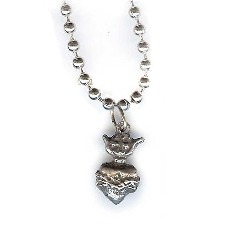 Small Sacred Heart Charm