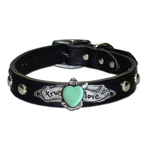 True Love Collar in Black & Brown (Plain/Studded)