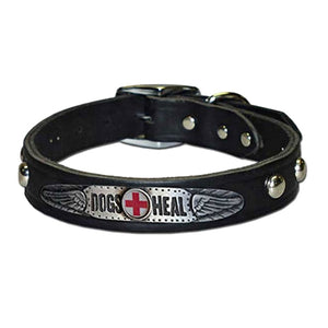 Dogs Heal Collar in Black & Brown (Plain/Studded)