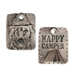 Happy Camper Dog Tag
