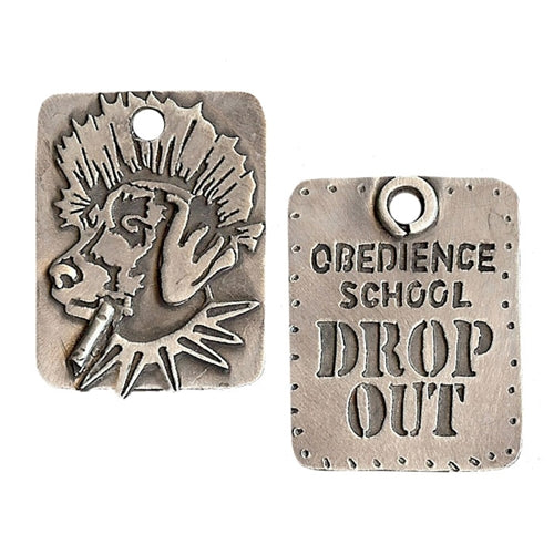 Obendiance Dog School Drop-Out Dog Tag