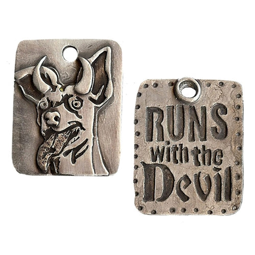 Runs With The Devil Dog Tag