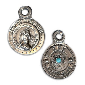 Protect This Dog St. Christopher Custom Dog Tag