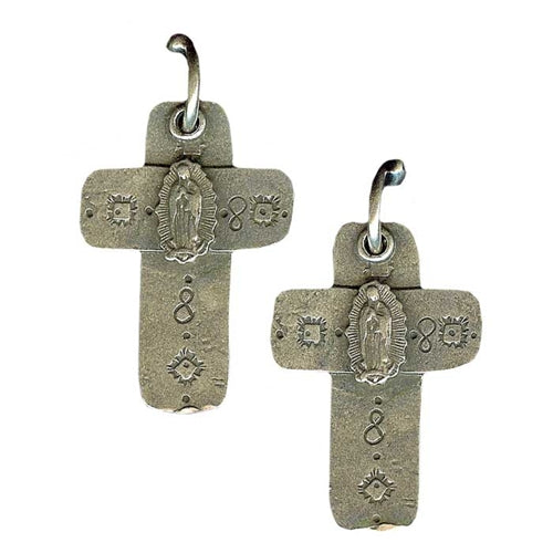 Guadalupe Cross Earrings