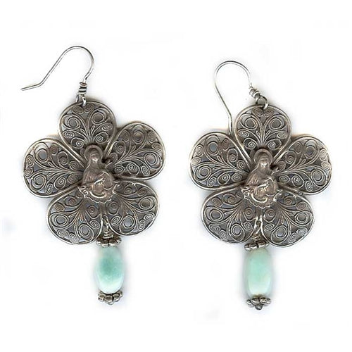 Flower and Mary Earrings