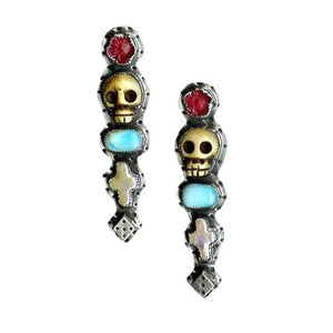 Skull and Dice Earrings