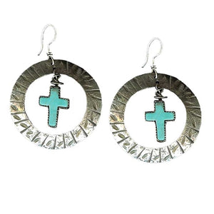 Dreamcatcher Cross Earrings