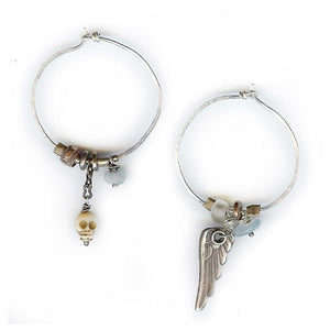 Skull & Wings Mismatch Earrings