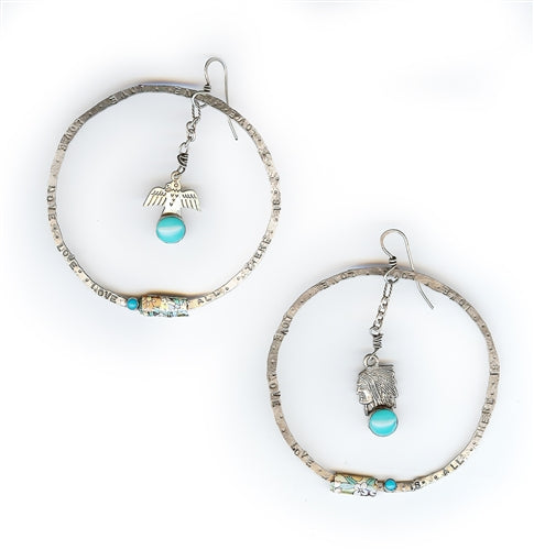 Thunderbird Hoop Earrings