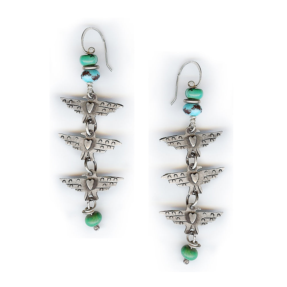 Triple Thunderbird Earrings