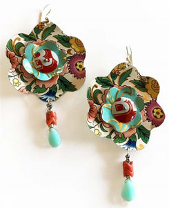 Tin Flower Bursts Earrings