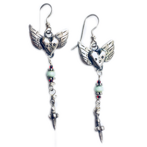 Heart And Wings Earrings
