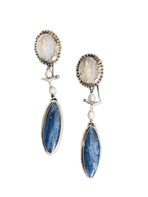 Our Lady With Kyanite Earrings