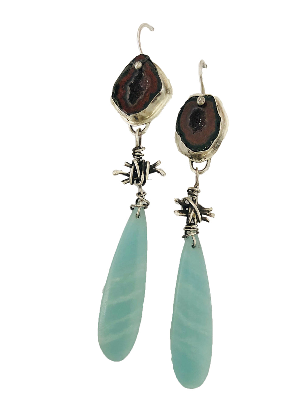 Agate & Larimer Earrings
