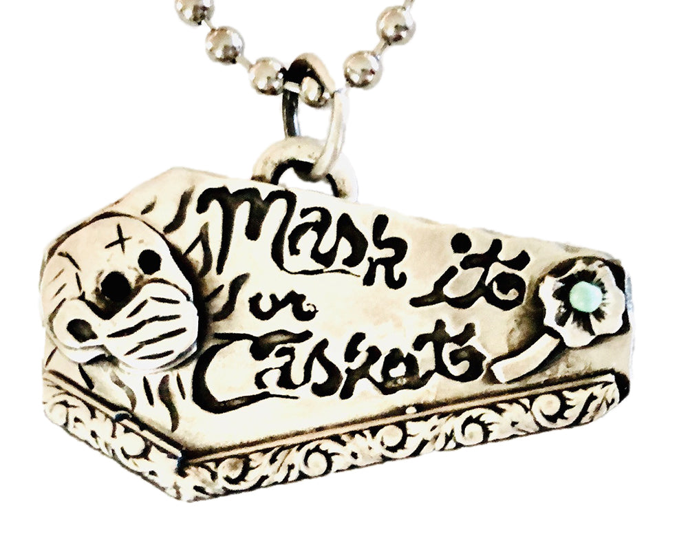 Mask It Or Casket Necklace