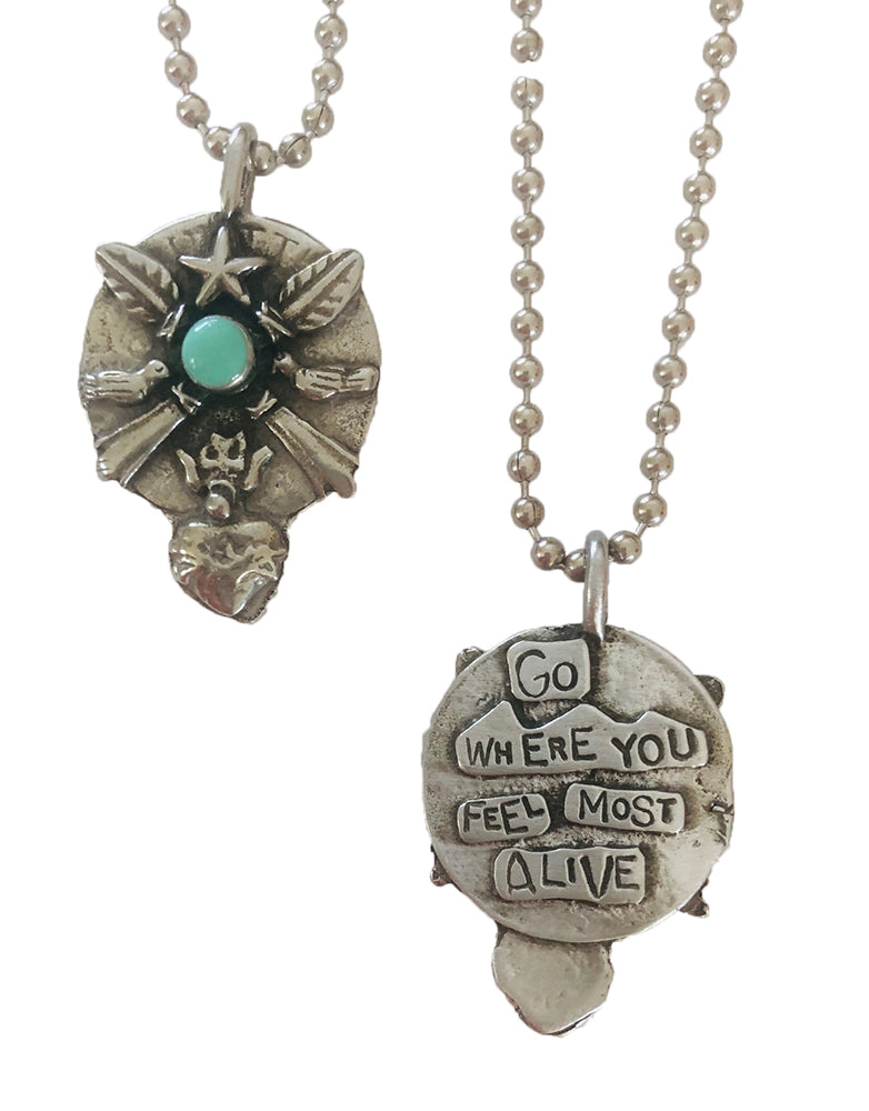 Go Where You Feel Most Alive Pendant