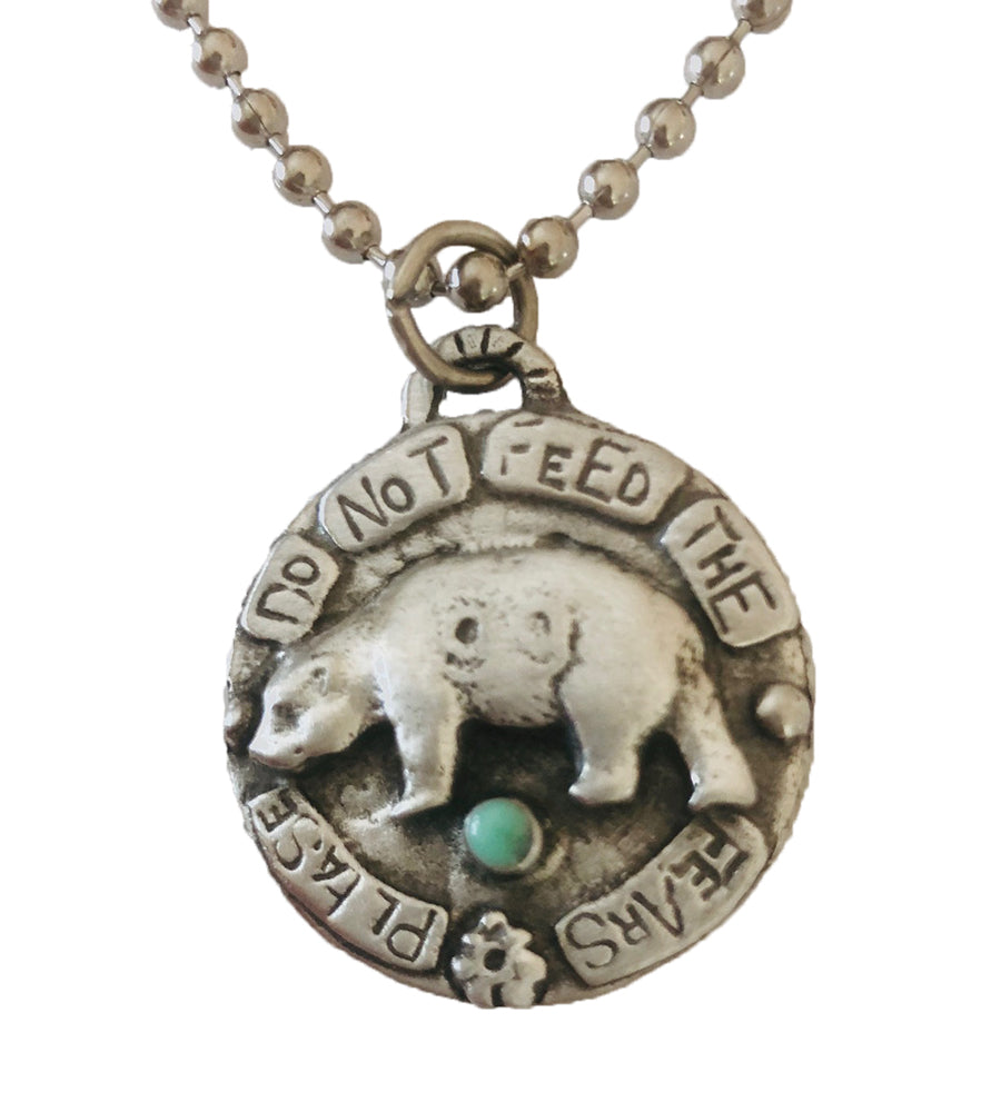 Please Do Not Feed The Fears Pendant