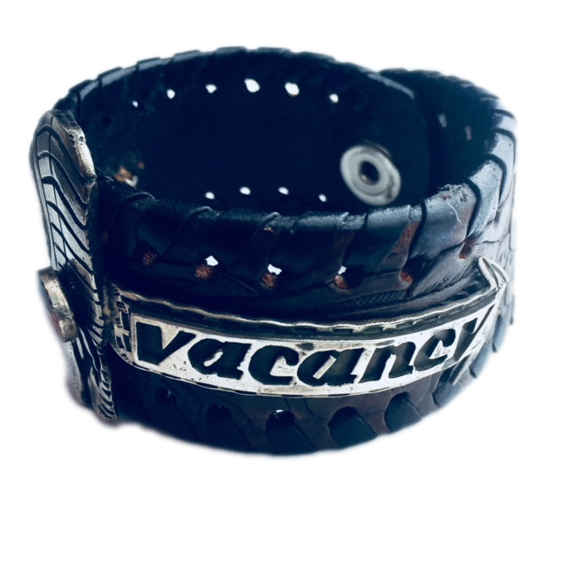 No Vacancy Leather Cuff