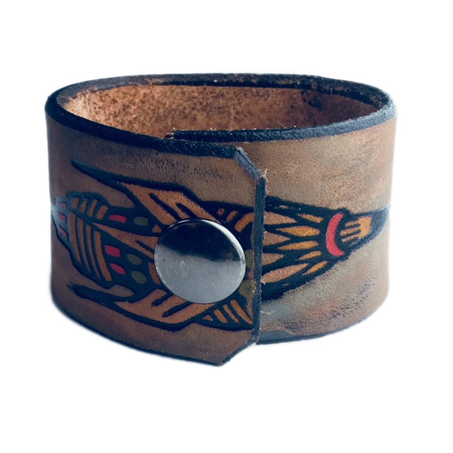 Rocket Girl Leather Cuff