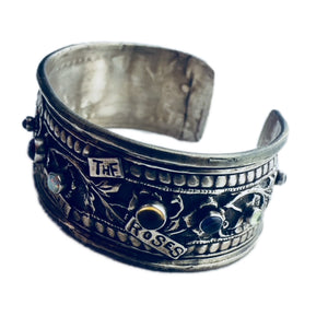 Take Time To Smell The Roses Sterling Cuff