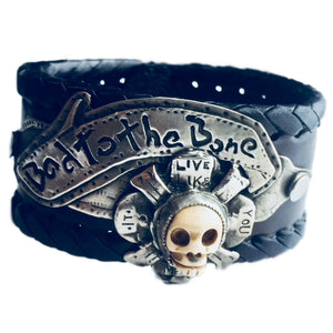 Bad To The Bone Leather Cuff