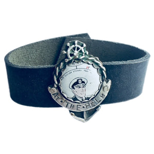 At The Helm Leather Cuff