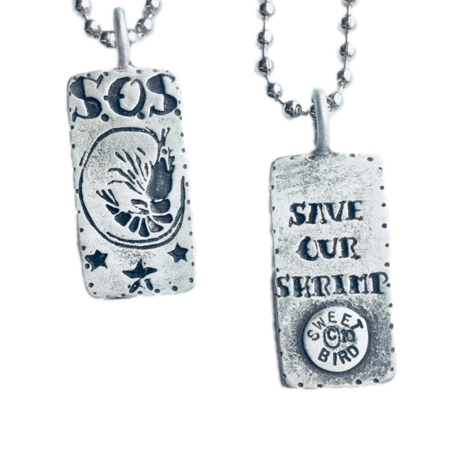 Save Our Shrimp Small Pendant