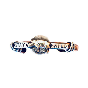 Stay Wild With Rhino Copper Cuff